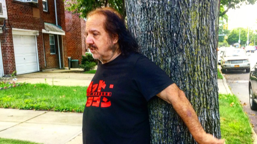 Ron Jeremy protecting tree