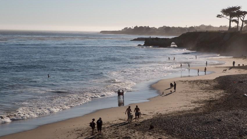 File image of a beach in Santa Cruz