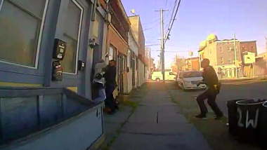 police officer struggles with alleged suspect