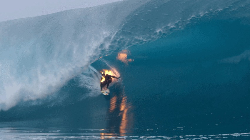 Surfer Of Fire