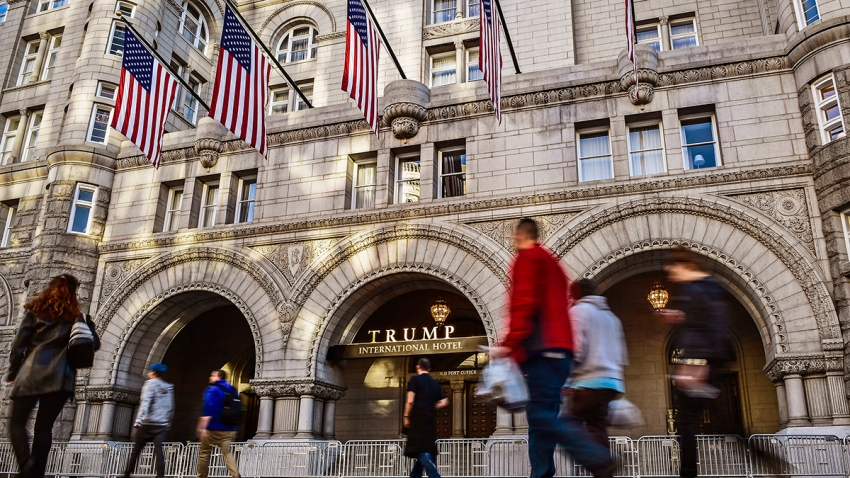 A view of the Trump hotel on Nov. 18, 2016, in Washington, D.C.