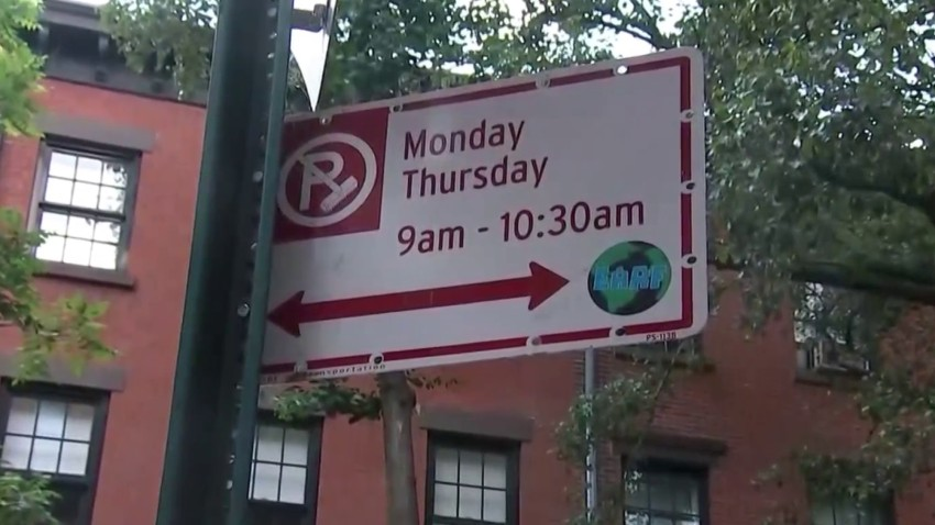 Alternate Side Parking street sign