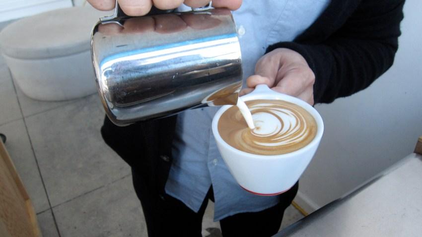 Yeekai Lim Pouring Cappuccino