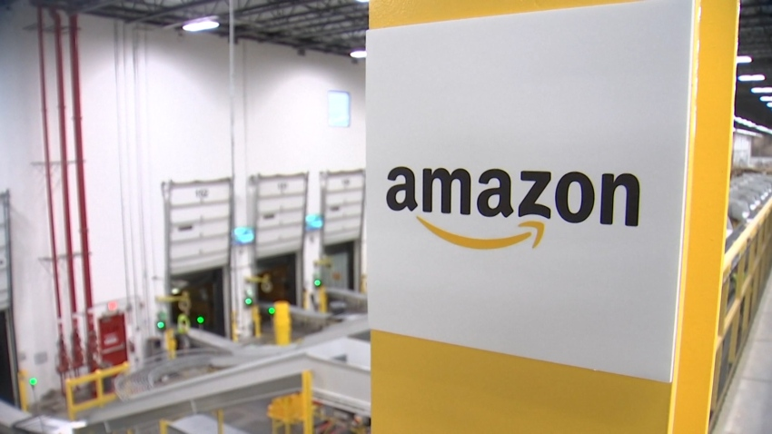 photos inside an amazon facility