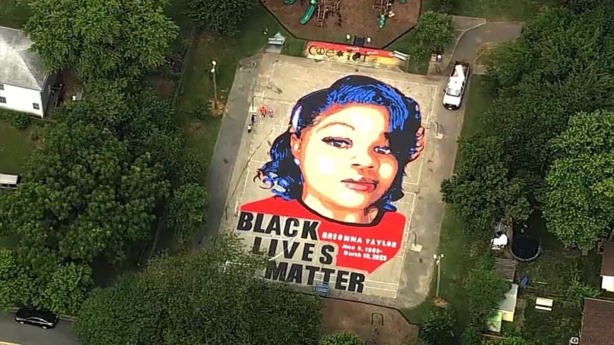 7,000-Square-Foot Breonna Taylor Mural Put in Maryland ...