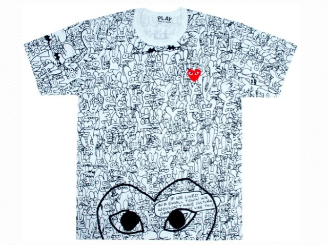comme des garcons groening binky sheba play