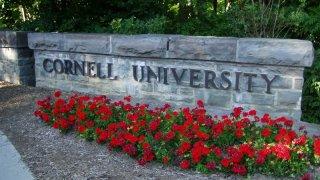 cornell university sign