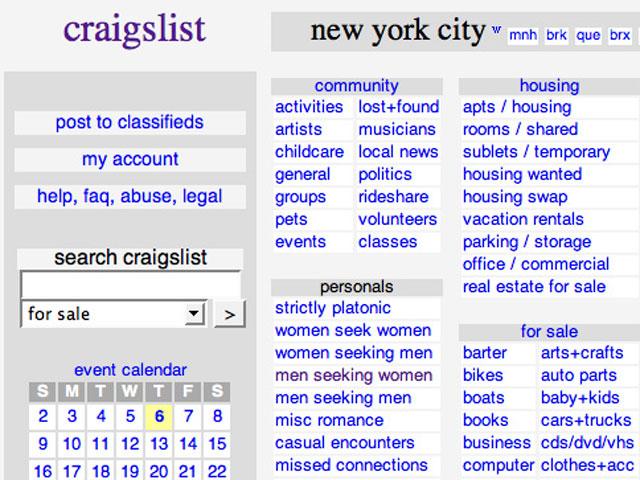Craigslist iz New Yorka