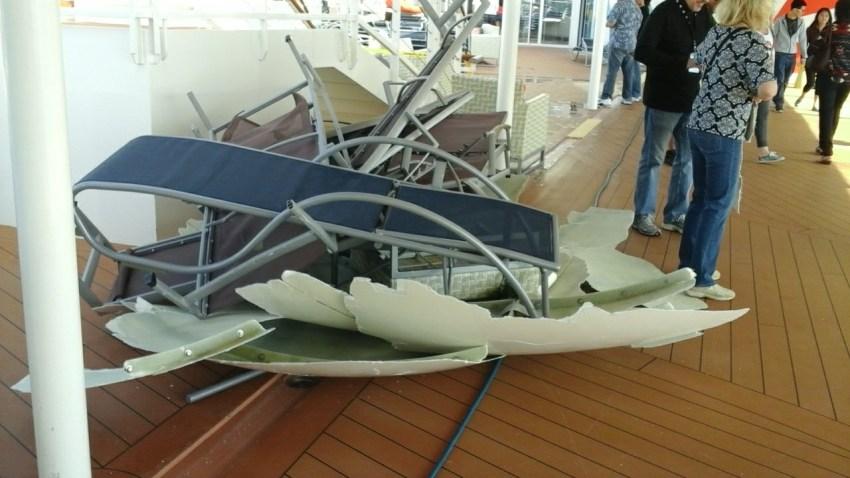 Royal Caribbean Anthem of the Seas Cruise Ship Damage