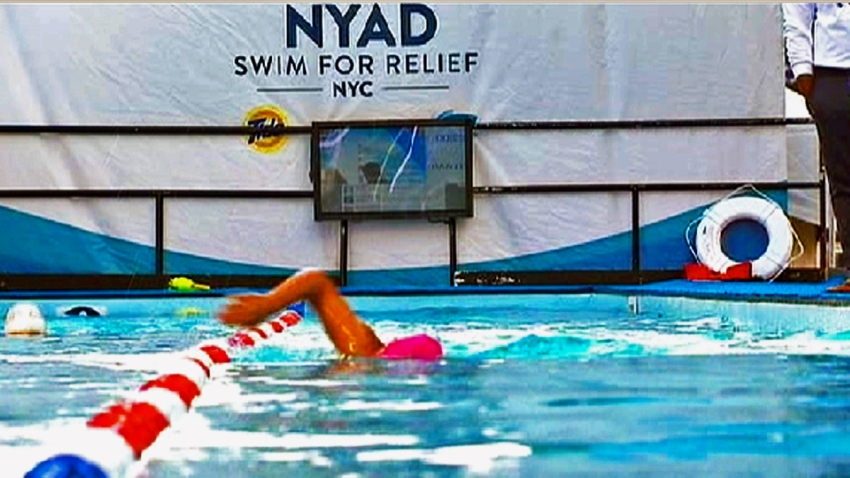 diana nyad swim for sandy relief