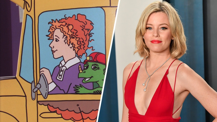 "(Left) Ms. Frizzle from ""The Magic School Bus"", (Right) Elizabeth Banks."