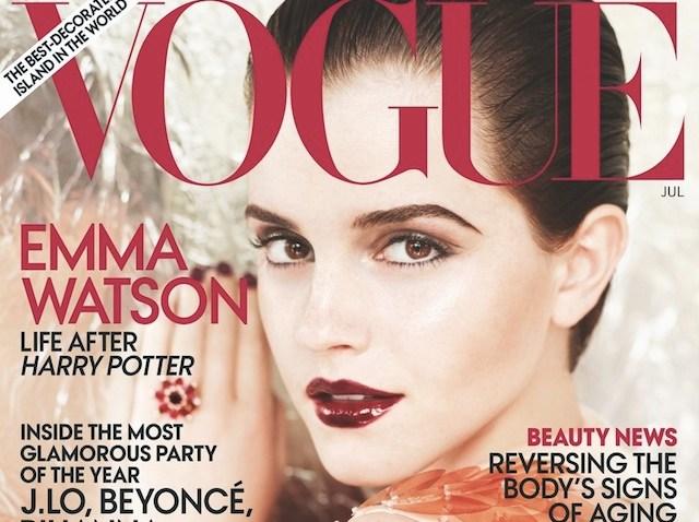 emma watson vogue cover july 2011