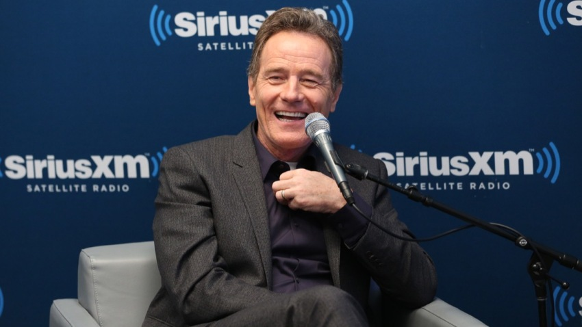 """In this July 12, 2016, file photo, actor Bryan Cranston at SiriusXM's """"Town Hall With Bryan Cranston"""" at SiriusXM Studios in New York City."""