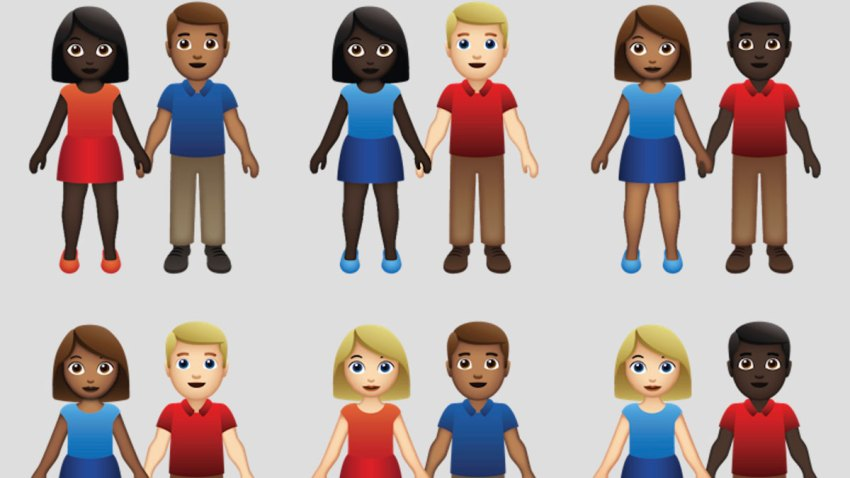 Emojis Couples of Color