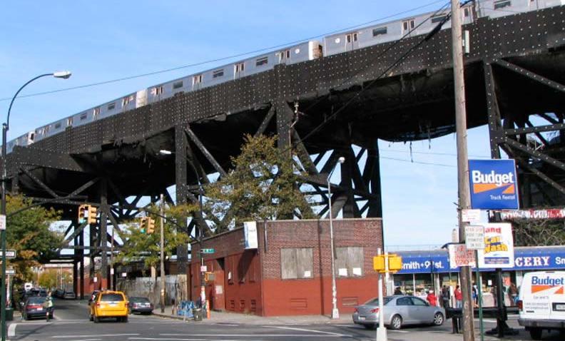 f train overground smith street, brooklyn