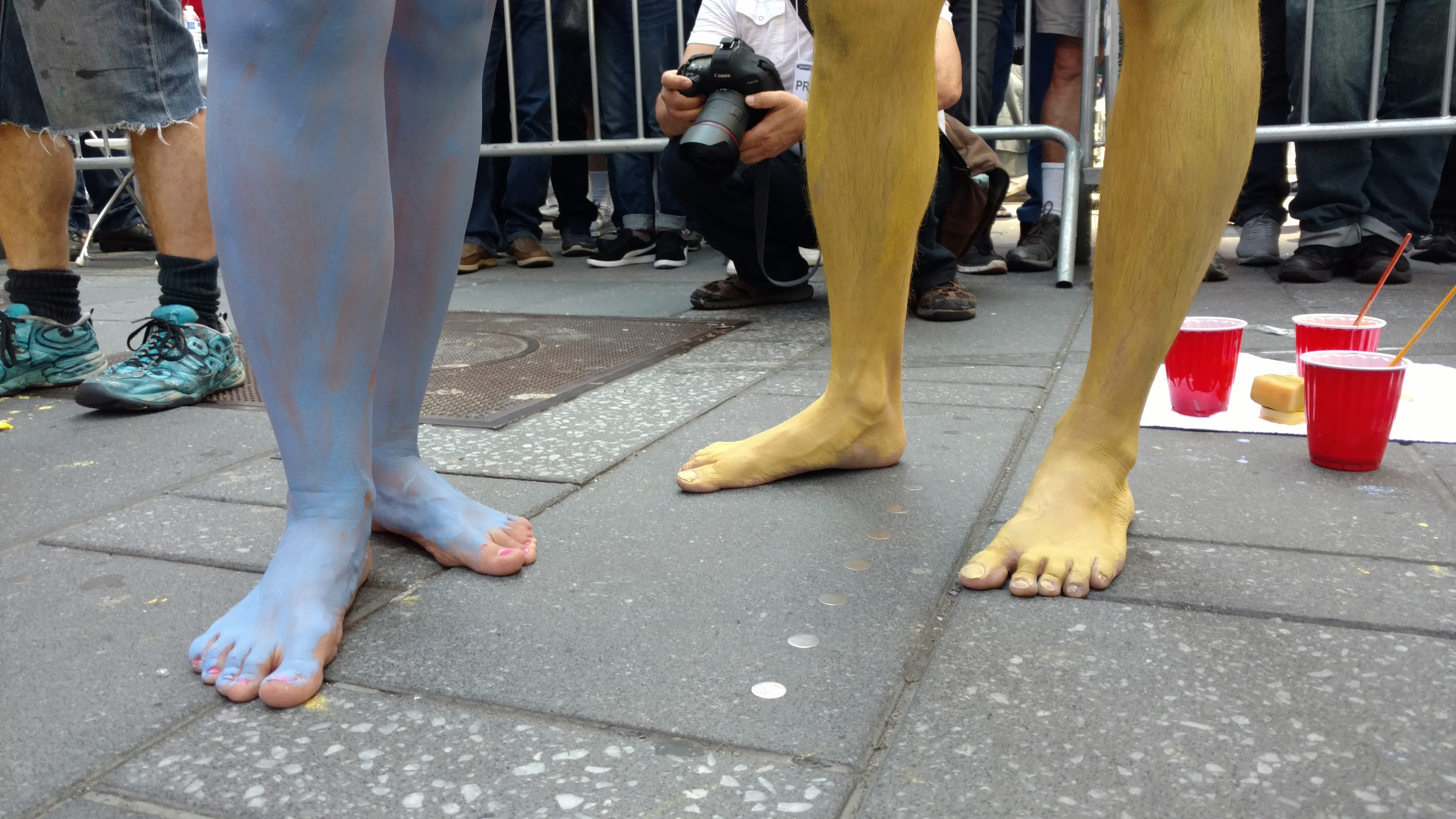 Nude Body Positivity Protest Times Square New York City