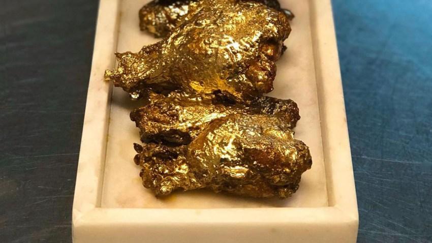 En Wings Dusted With 24 Karat Gold