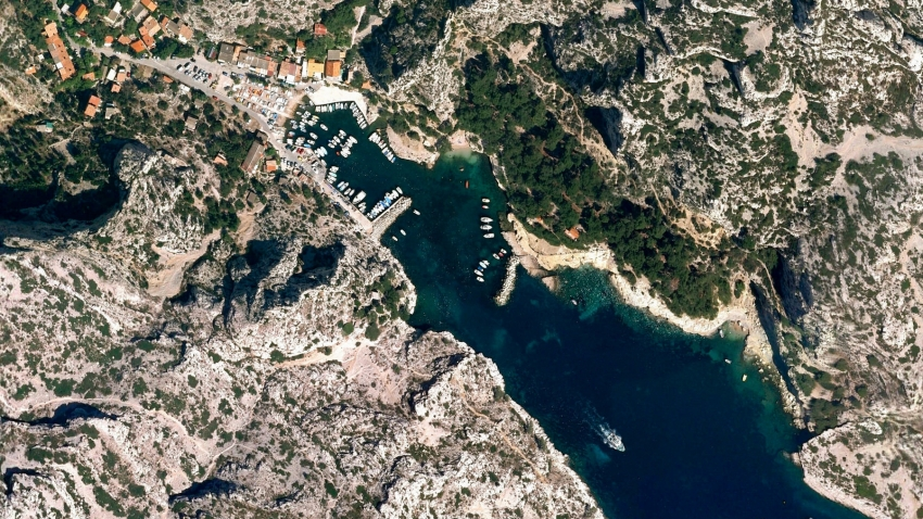 A Google Earth image of Marseille, France, one of 1,000 new photos released by Google's Earth View.