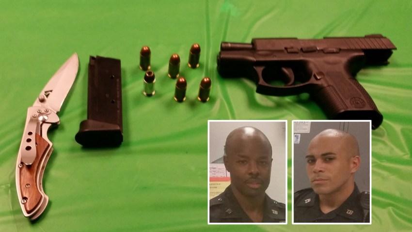gun subway stop arrest