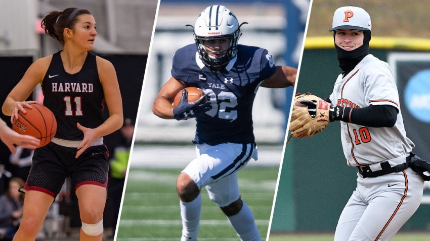 Various athletes on Ivy League sports teams.