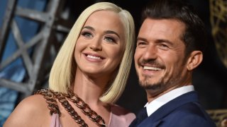 """In this Aug. 21, 2019, file photo, Katy Perry and Orlando Bloom attend the LA Premiere of Amazon's """"Carnival Row"""" at TCL Chinese Theatre in Hollywood, California."""