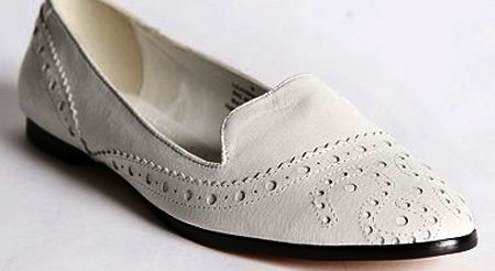 leather loafer white