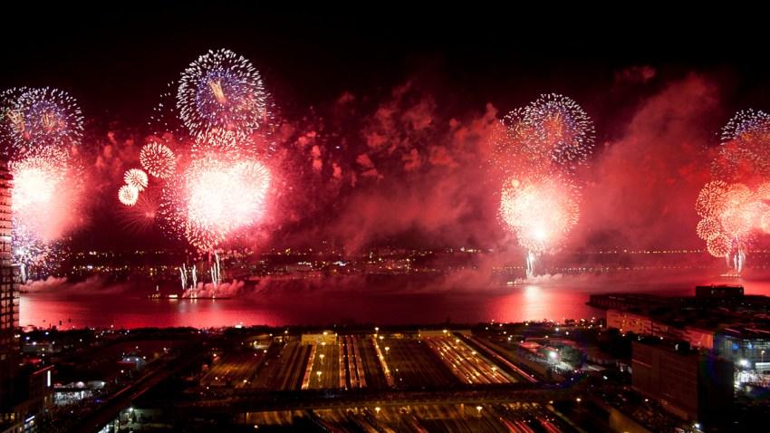 Macy's Fireworks in Red