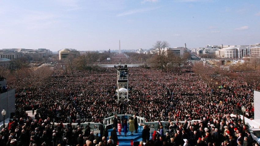 National Mall Inauguration Crowd
