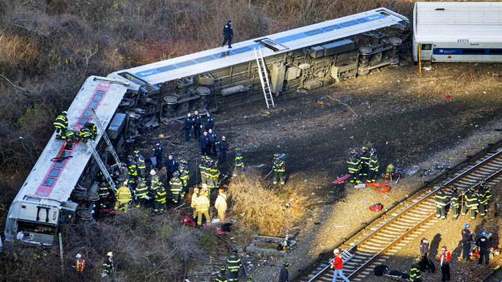 APTOPIX NYC Train Derailment