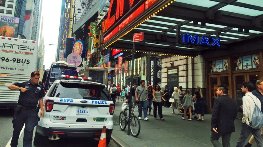 movie theater NYPD