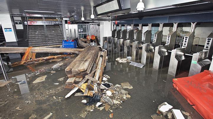 mta flooded subway sandy