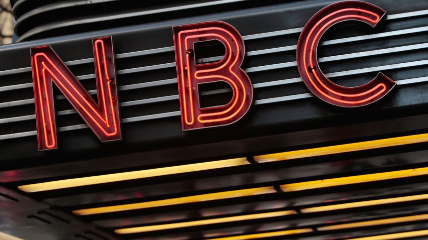 The historic Art Deco-style sign sits above the entrance to NBC Studios is seen December 3, 2009 in New York City.