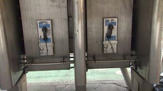 File photo of New York City public pay phones