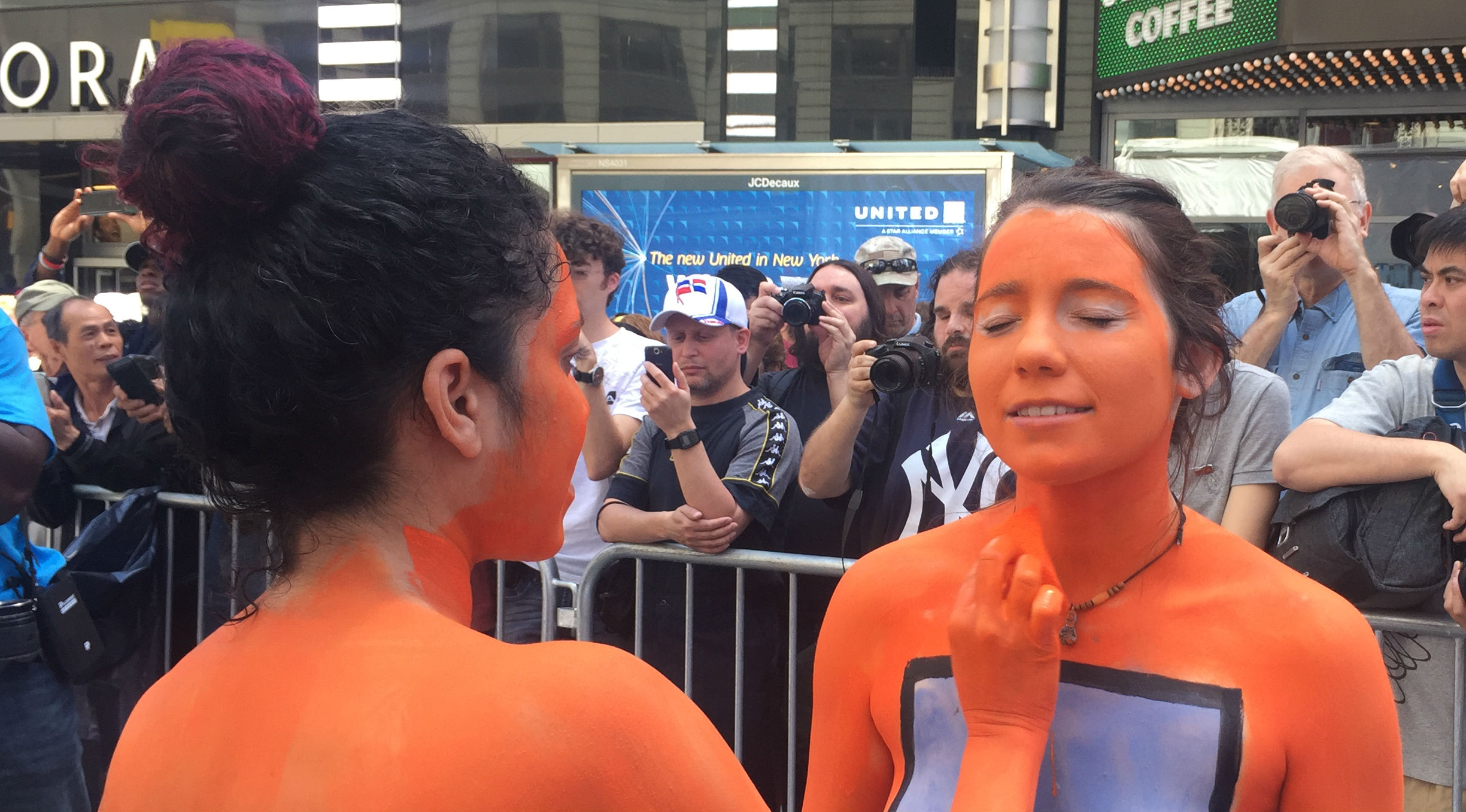 Nude Models Take Over Times Square for Body Painting