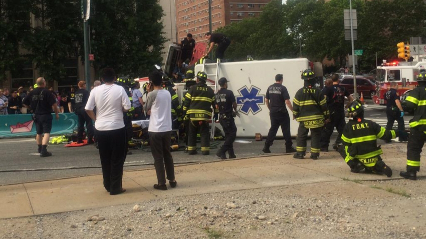 overturned ambulance bk