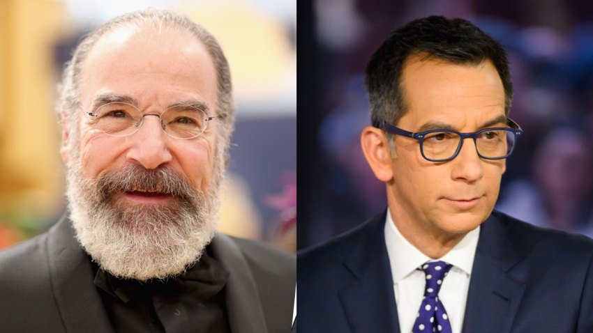 Actor Mandy Patinkin and NBC 4's Dave Price.