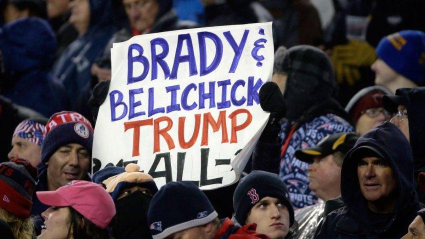 Patriots Brady Trump Football