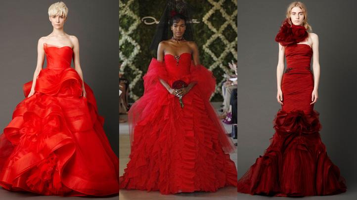 red-wedding-dresses-vera-wang-oscar-renta