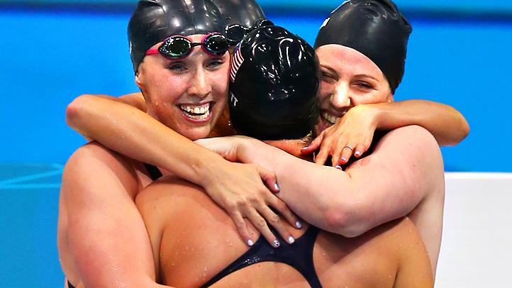 Olympics US Relay Women Swim Team
