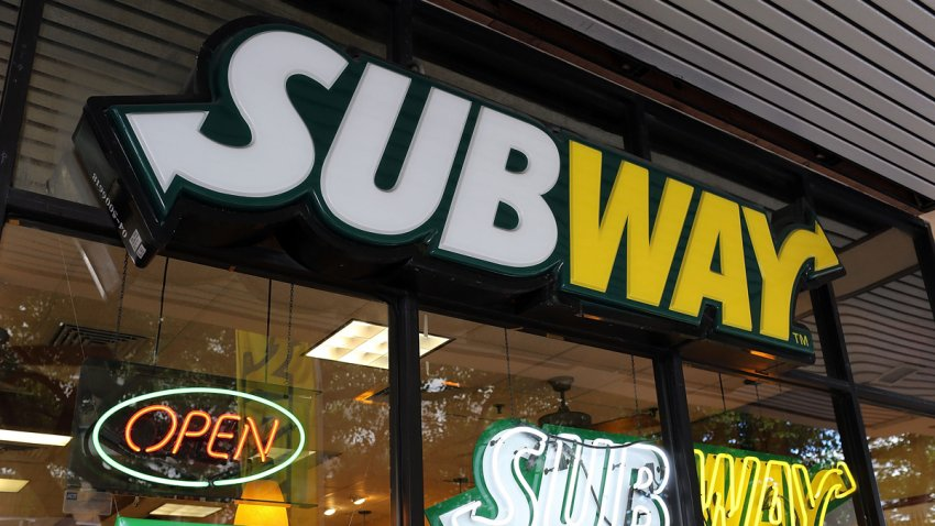 In this Oct. 21, 2015 file photo, a Subway restaurant is seen in Miami, Florida.