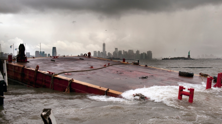 sunken barge sandy