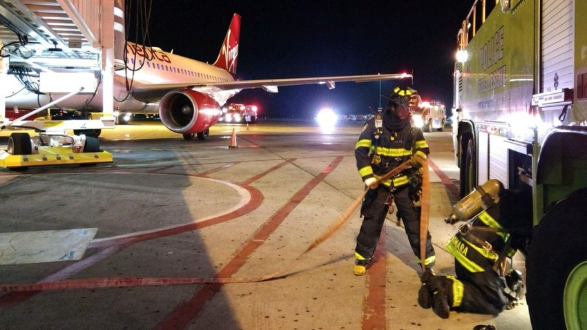 virgin america fire