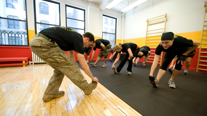 warrior boot camp stretching