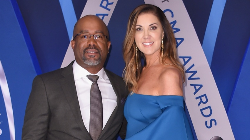 In this Nov. 8, 2017, file photo, musical artist Darius Rucker and wife Beth Leonard attend the 51st annual CMA Awards at the Bridgestone Arena in Nashville, Tennessee.