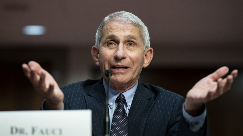 In this June 30, 2020, file photo, Anthony Fauci, director of the National Institute of Allergy and Infectious Diseases, speaks during a Senate Health, Education, Labor and Pensions Committee hearing in Washington, D.C.