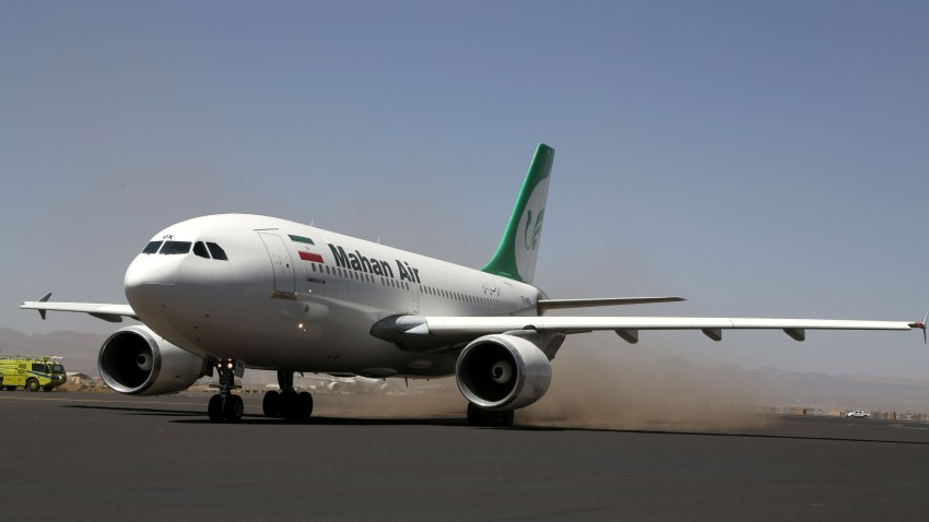 An Airbus 310 airplane of Mahan Air