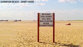 Nude sunbathing sign New Jersey