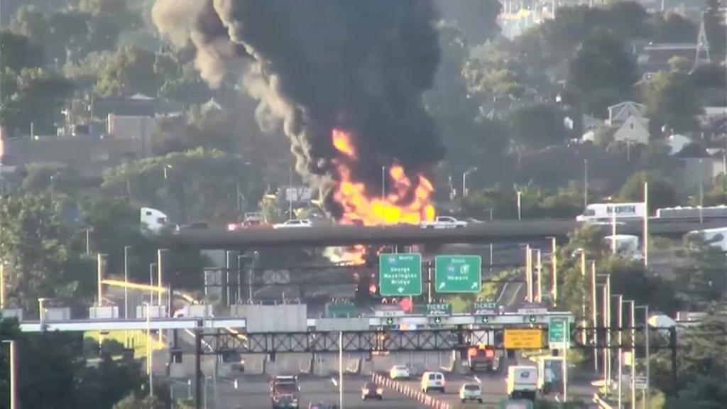 Tanker fire New Jersey turnpike