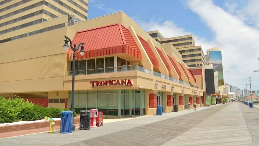 Exterior of the Tropicana Casino in Atlantic City