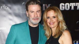 "John Travolta And Kelly Preston Celebrate Their New Film ""Gotti"" at Fontainebleau Hotel on June 7, 2018 in Miami Beach, Florida."